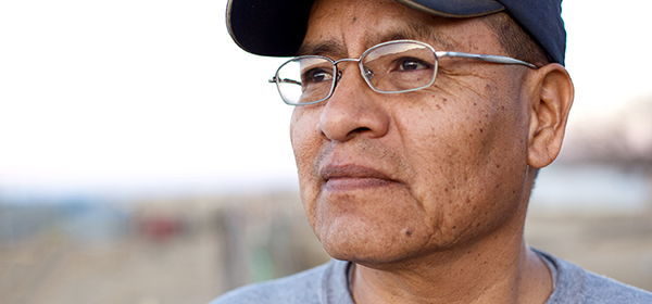 Indigenous man with glasses