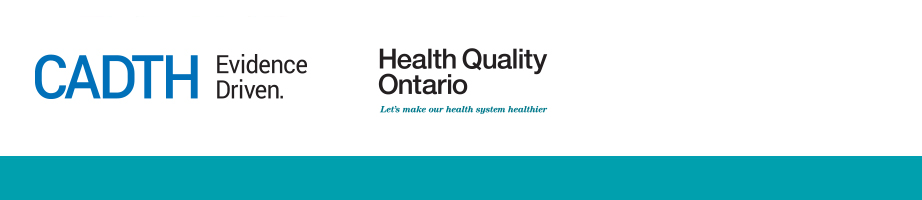 CADTH and Health Quality Ontario logo