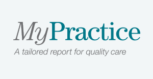 MyPractice, a tailored report for quality care wordmark